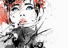 Mody dziewczyna w stylu ilustracja wektor