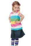 mody dziewczyny koszula paskował fotografia stock