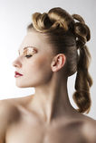mody dziewczyny lamparta makeup Obrazy Royalty Free