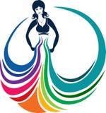 mody dziewczyny logo royalty ilustracja