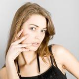 mody dziewczyny portret fotografia stock