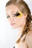 mody dziewczyny portret zdjęcie stock