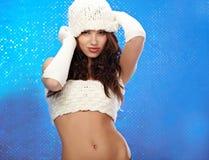 mody dziewczyny zima Obraz Stock