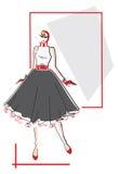 mody elegancka kobieta Zdjęcie Royalty Free