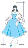 mody elegancka kobieta Zdjęcie Stock