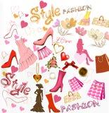 Mody elegancki tło Obraz Royalty Free