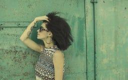 Mody fotografia z afro fryzurą Zdjęcie Stock