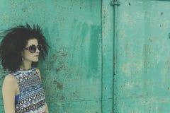 Mody fotografia z afro fryzurą Obraz Stock