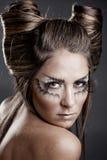 mody fryzury Halloween makeup model Zdjęcia Stock