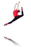 Młody gimnastyczki ćwiczyć Obraz Royalty Free