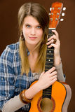 mody gitary mienia muzyka skały kobieta Obraz Royalty Free