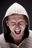 Młody gniewny mężczyzna Obraz Stock