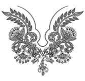 mody hafciarski neckline Zdjęcia Royalty Free