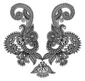 mody hafciarski neckline Obrazy Royalty Free
