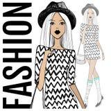 Mody ilustracja eps kartoteki dziewczyna zawierać wektor Nakreślenie model Piękno Twarz ilustracji