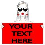 Mody ilustracja twój szablonu tekst Zdjęcia Royalty Free