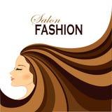 Mody kobieta z Długie Włosy Fotografia Stock