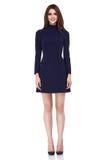 Mody kobiety ciała kształta brunetki stylowej perfect włosianej odzieży piękny model Obrazy Stock
