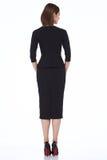 Mody kobiety ciała kształta stylowej perfect brunetki odzieży włosiany czerń Zdjęcie Royalty Free