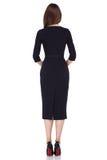 Mody kobiety ciała kształta stylowej perfect brunetki odzieży włosiany czerń Zdjęcie Stock