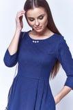 Mody kobiety ciała kształta stylowej perfect brunetki włosiana odzież Zdjęcia Stock
