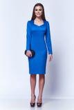 Mody kobiety ciała kształta stylowej perfect brunetki włosiana odzież Zdjęcia Royalty Free