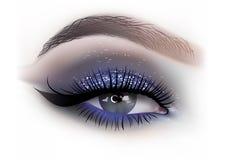 Mody kobiety oka makeup ilustracja wektor