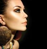 Mody kobiety profilu portret zdjęcia stock