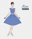 Mody kobiety retro tło Obraz Royalty Free