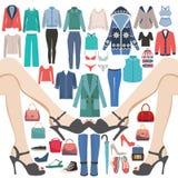 Mody kolekcja Duży zakupy i sprzedaż ilustracji