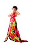 mody kolorowa smokingowa kobieta Fotografia Royalty Free