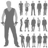 mody mężczyzna setu wektor Fotografia Stock