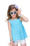 Mody mała dziewczynka w szkłach obraz royalty free