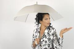mody modela deszcz Zdjęcie Stock