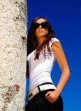 mody modela okulary przeciwsłoneczne Obrazy Stock