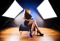 mody modela studio fotografia stock
