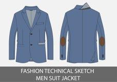 Mody nakreślenia mężczyzna kostiumu techniczna kurtka Zdjęcie Royalty Free