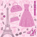 mody Paris set Zdjęcia Stock