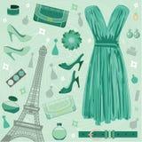 mody Paris set royalty ilustracja