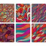 Mody pastylki skóry Nowożytni abstrakcjonistyczni tła z fala linią ilustracja wektor