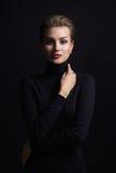 Mody piękna portret młoda kobieta zdjęcia stock