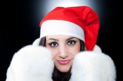 mody piękna dziewczyna Santa Zdjęcia Stock