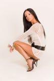 mody piękna smokingowa dziewczyna Obraz Stock