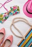 Mody plaży i setu akcesoria Zdjęcia Royalty Free