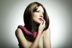 mody portreta kobiety potomstwa Zdjęcie Royalty Free
