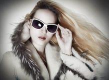 mody portreta uwodzicielska kobieta Fotografia Royalty Free