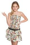 Mody preteen uśmiechnięta dziewczyna Zdjęcia Stock