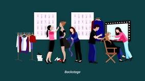 Mody showl animaci wideo materiał filmowy ilustracja wektor