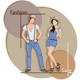 Mody sprzedaż Ilustracja Wektor