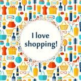 Mody, sprzedaży i zakupy tło, Obrazy Stock